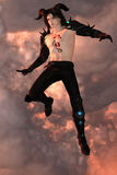 Magical guy in the sky Royalty Free Stock Photography