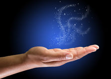 magical hand Royaltyfri Foto