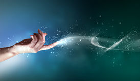 Magical hands conceptual image Stock Photo