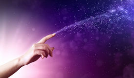 Magical hands conceptual image Royalty Free Stock Image