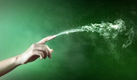 Magical hands conceptual image Stock Photos