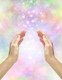 Magical healing energy royalty free stock photos
