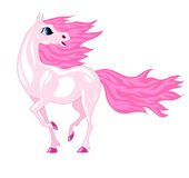 Magical horse with a pink mane Stock Photos