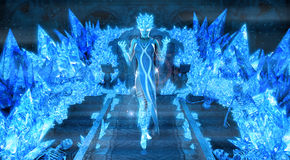 Magical ice queen Stock Photos