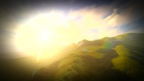 Magical Ireland landscape with hills stock footage