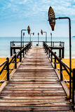 Magical jetty in Vietnam stock photography
