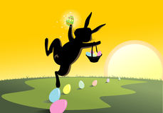 Magical Jolly Easter Rabbit Stock Images