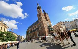 Magical Krakow, Poland Old Town Royalty Free Stock Images
