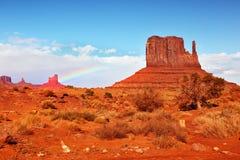 Magical landscape of red sandstone Stock Image