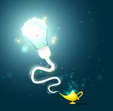 Magical lightbulb illustrtaion Stock Photography