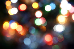 Magical Lights. Blurry pattern of colorful decoration lights.  stock photography