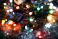 Magical Lights. Blurry pattern of colorful decoration lights Stock Photography