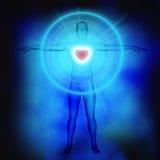Magical loving heart stock illustration