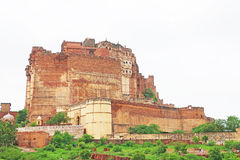 Magical Mehrangarh Fort, Jodhpur, Rajasthan,india. This magical magnificent and huge fort contains seven gates, the main ones are Jayapol and built by Maharaja royalty free stock image