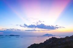 Free Magical Moment At Sunset In Hong Kong Royalty Free Stock Photo - 23445275