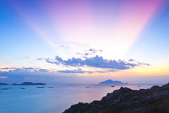 Magical moment at sunset in Hong Kong Royalty Free Stock Photo