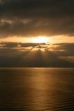 Magical morning light on the Lake of Sevan Stock Photo