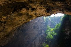 Magical  mountain cave Stock Images