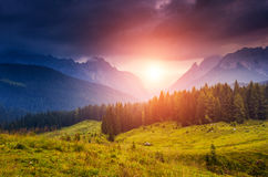 Magical mountain landscape Stock Photos