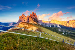 Magical mountain landscape Stock Photography