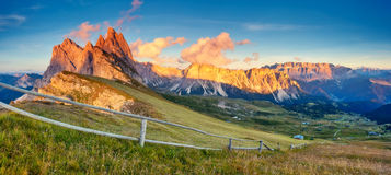 Magical mountain landscape Stock Images
