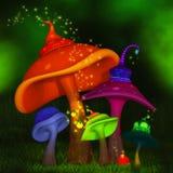Magical mushrooms Stock Photos