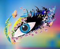 Magical, mysterious eye, Stock Image