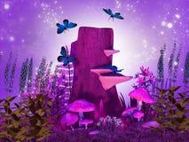 magical natt royaltyfri illustrationer