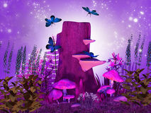 Magical night royalty free illustration
