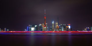 The magical night in lujiazui,shanghai,china Royalty Free Stock Image