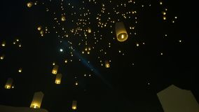 Magical night in Thailand lantern festival loy krathong night