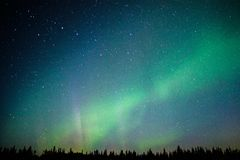 Magical Northern light in far away North of Alaska. US aurora adventure, dancing sky, lights on the sky stock images