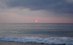Magical ocean. Sunrise over the Atlantic. Morning. Waves of the surf. Beach. Magical ocean. Sunrise over the Atlantic. Morning. Waves of the surf.  fresh bright Stock Images