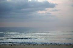 Magical ocean. Sunrise over the Atlantic. Morning. Waves of the surf. Beach. Magical ocean. Sunrise over the Atlantic. Morning. Waves of the surf.  fresh bright Royalty Free Stock Photos