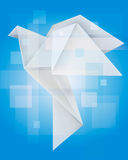 Magical Origami dove Stock Photo