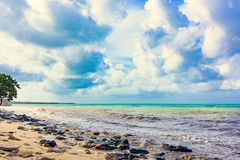 Magical paradise beach of the Caribbean sea Stock Photography