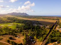 Magical Paradise Kauai island. stock photo