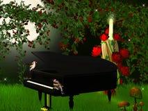 Magical  piano Stock Image