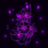 Magical pink flower. Vector EPS 10. Vector magical pink mehndi flower Stock Photos