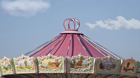 magical pink nursery in the luna park royalty free stock images
