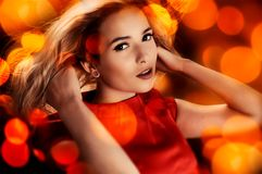 Magical portrait of blonde woman Royalty Free Stock Photo