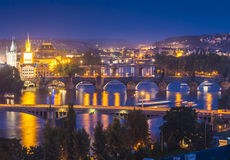 Magical Prague at night Royalty Free Stock Photo