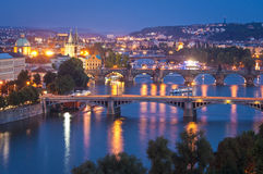 Magical Prague at night Stock Photography