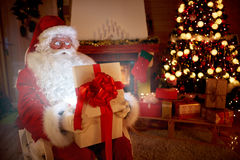 Magical present in Santa Claus hands Royalty Free Stock Photography
