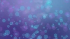 Magical purple blue glowing bokeh background