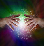 Magical Rainbow Sparkles Stock Images