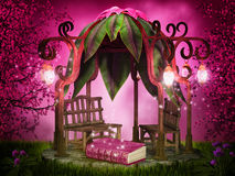 Magical reading place Stock Images