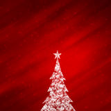 Magical red color background with lovely Christmas tree Royalty Free Stock Photography