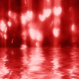 Magical red heart shape Lights, defocused royalty free stock photo