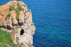 Magical rock over the sea Royalty Free Stock Photography